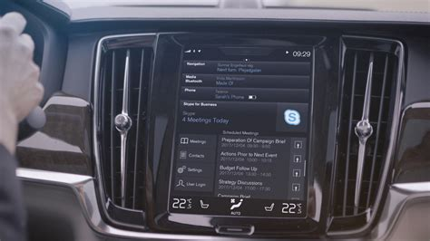 volvo on call pincode volvo adds skype for business to 90 series cars to further