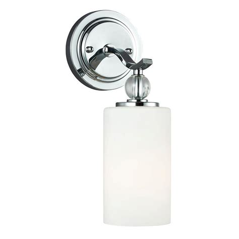 Sea Gull Lighting Englehorn 1 Light Chrome Wall Bath Chrome Bathroom Sconces