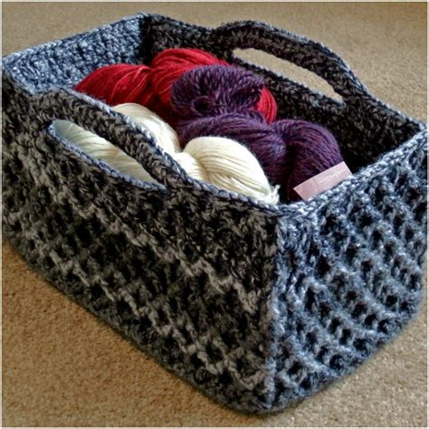 yarn keeper pattern best yarn keeper rectangular crochet basket styles idea