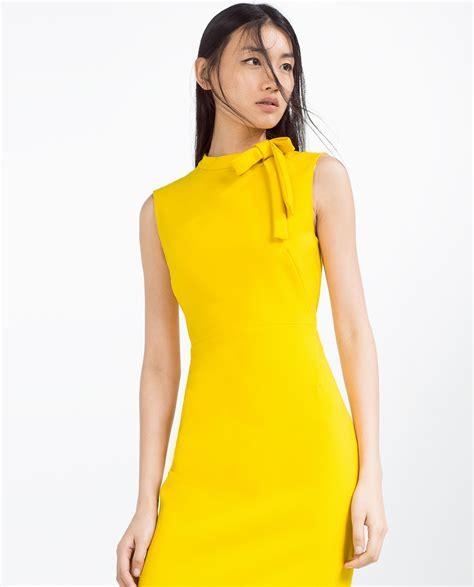 Dress Yellow zara dress in yellow lyst
