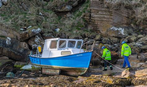 rock the boat elgin boat marooned high on rocks off moray coast press and