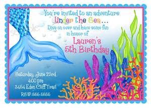 personalized invitations mermaid the by littlebeaneboutique