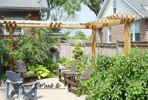 backyard arbors designs bower woods llc custom garden structures rustic pergolas