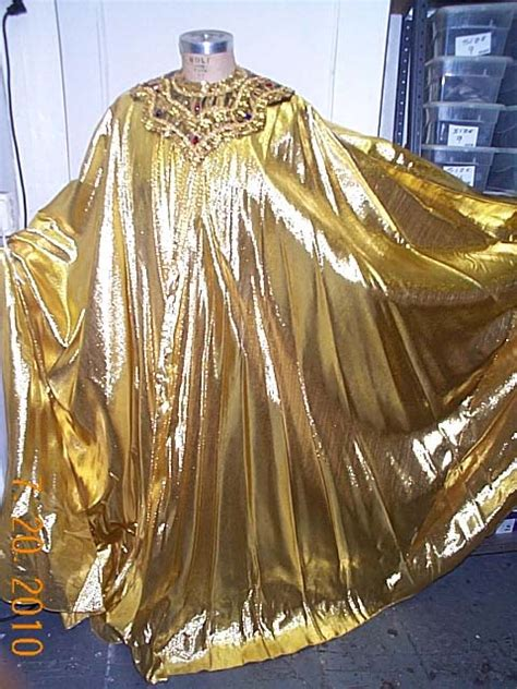 cape gold lame gold collar  costumes