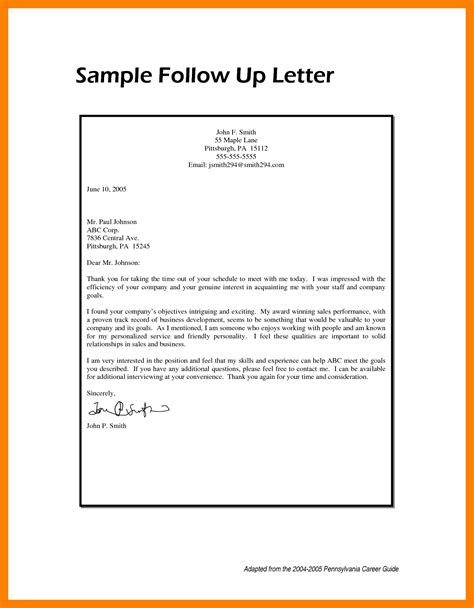 up letter for 7 followup letter sles appeal leter