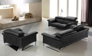 elite contemporary black leather sofa set anaheim