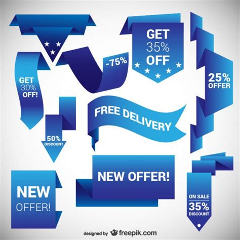 design banner discount blue discount banners vector free download