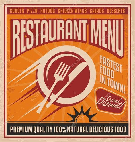 retro poster template plantilla p 243 ster retro para restaurante de comida r 225 pida