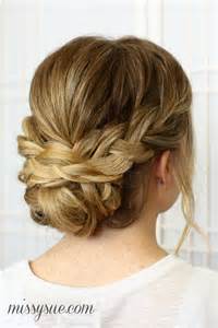 soft braided updo