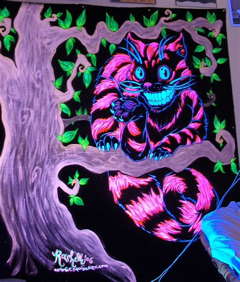 uv tattoo cheshire cat this was done for an alice in wonderland themed hair art