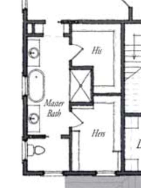 Master Bath Floor Plan Except I See No Need For His Her | master bathroom floor plans share future home ideas
