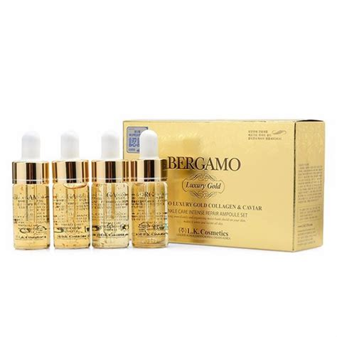 Serum Gold Korea serum bergamo luxury gold collagen caviar mỹ phẩm h 224 n quốc