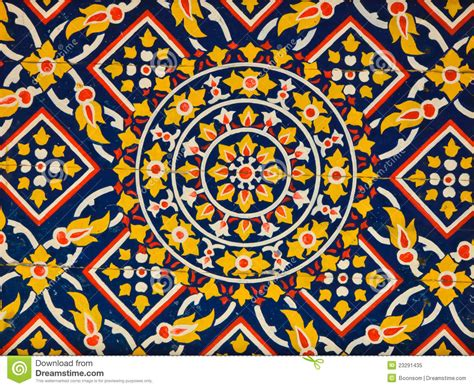 pattern art on canvas ancient floral pattern painting on ceiling royalty free