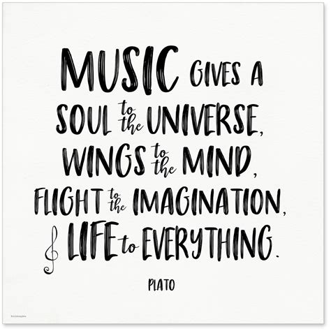 printable quotes about music music gives a soul to the universe plato quote art print