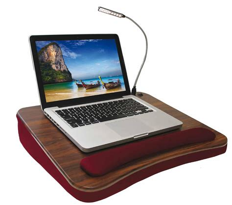 Amazon Com Sofia Sam Deluxe Memory Foam Lap Desk With Laptop Desk With Light
