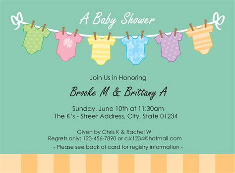 free baby shower invitation template wblqual com