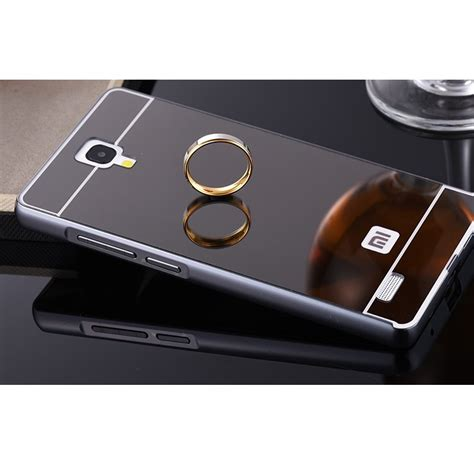 Bumper Mirror Xiomi Note 2 aluminium bumper with mirror back cover for xiaomi redmi note black jakartanotebook
