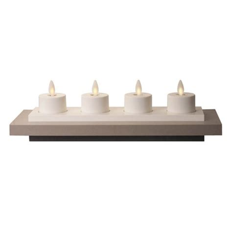 luminara rechargeable tea lights set of 4 with base battery operated candles lighting