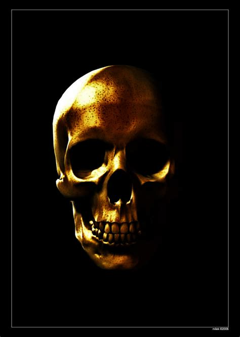 gold skull gold skull by ka mil on deviantart