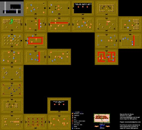 Legend Of Zelda Map Level 6 | the legend of zelda level 6 dragon quest 1 map
