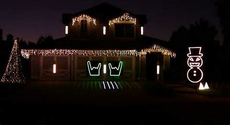 slayer rocks christmas lights display video