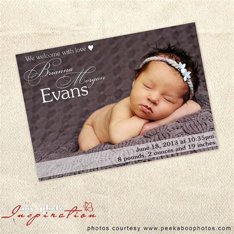 templates for birth announcements for a baby girl baby birth announcement template girl birth announcement