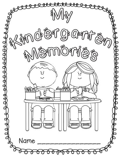 7 Best Images Of Kindergarten Memory Book Printables Free Kindergarten Memory Book Template Free Printable Memory Book Templates