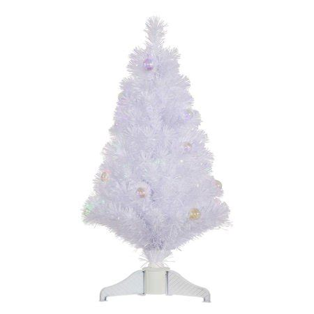 reviews of 3 foot fiber optic christmas tress vickerman 3 ft white fiber optic tree with ornaments walmart