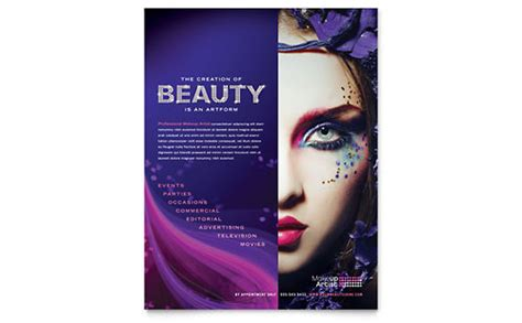 cosmetics flyer templates retail sales