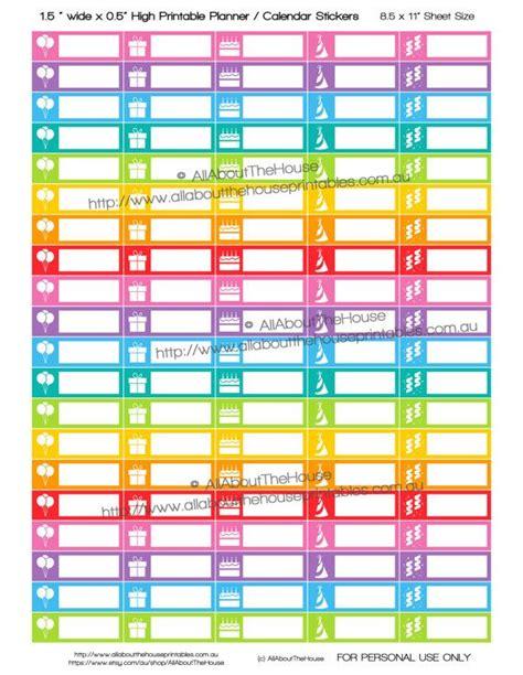 printable calendar stickers birthday stickers printable calendar planner stickers 1