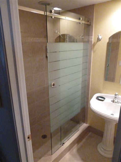 Sandblasted Shower Doors Sliding Etched Sandblasted Shower Doors Creative Mirror Showers
