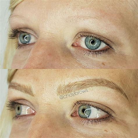 tattoo eyebrows blonde hair microblading pinteres