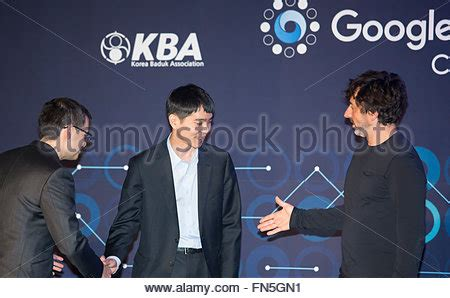 lee c stock photos and lee se dol and demis hassabis mar 12 2016 south korean