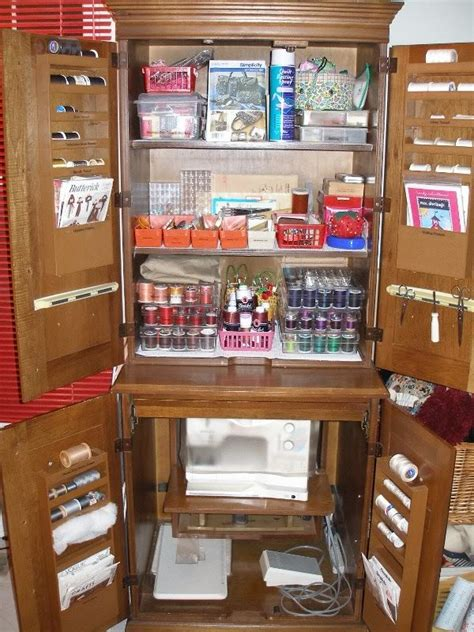 sewing machine armoire cabinet need to convert our old armoire into a sewing station