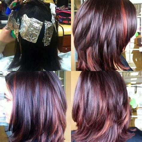 hairstyles and pick a boo color for brunette women over 50 166 best short hair auburn with highlights images on