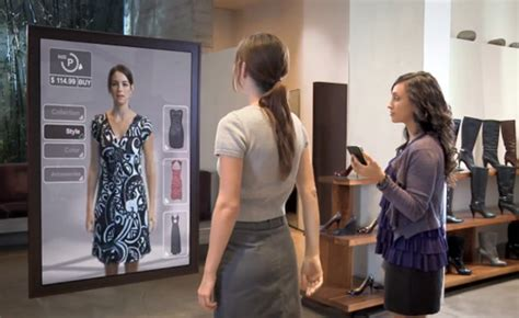 Launch Of Shop Vogue Interactive Advertisement Site by Interactive Mirror With Options Interesting