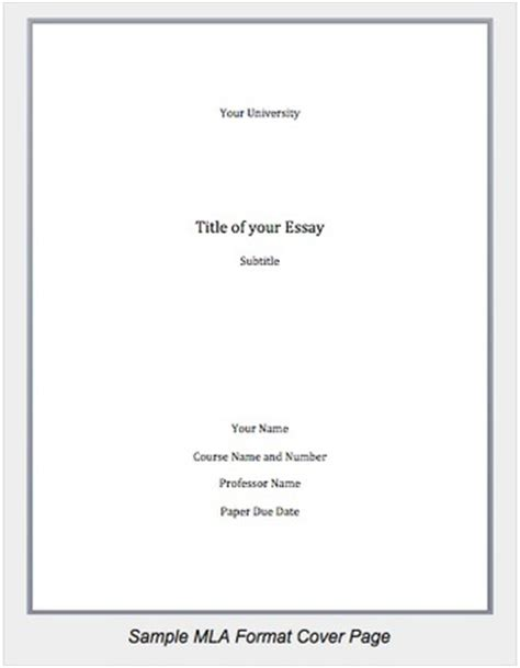 Mla Essay Cover Page by Mla Essay Cover Letter Frudgereport888 Web Fc2