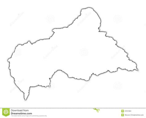 Republic Map Outline by Central Republic Map Stock Illustration Image 4761394