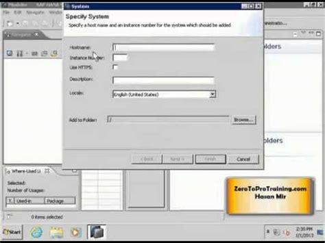 tutorial sap hana studio sap hana studio tutorial 2 adding a system in sap hana