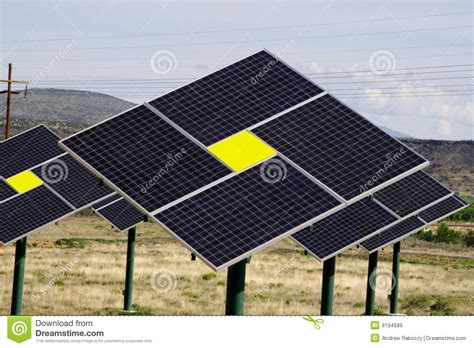 solar panels green technology royalty free stock images