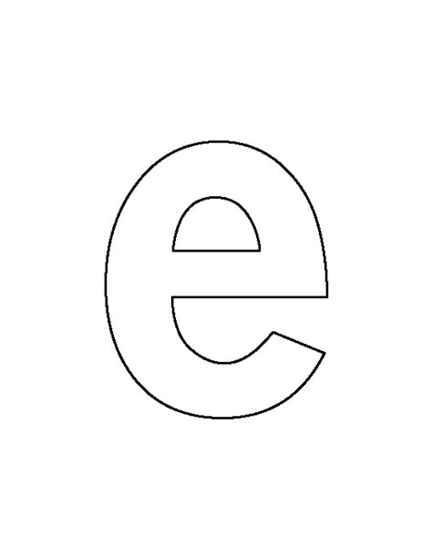 letter e template lowercase letter e pattern use the printable outline for