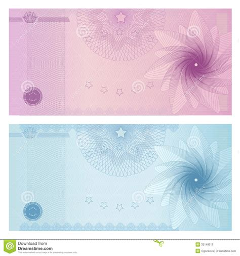 money design template gift certificate voucher coupon template stock image