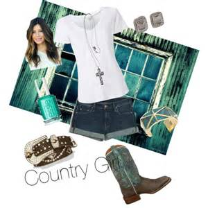 country with shorts polyvore