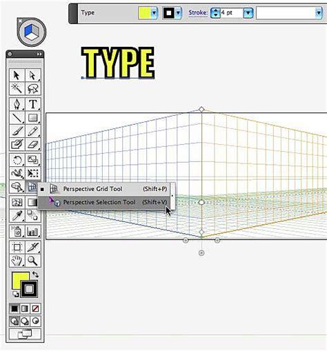 tutorial illustrator perspective tool illustrator perspective grid tool text