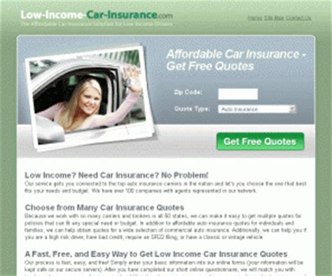 Low Car Insurance Quotes by Low Income Car Insurance Get Car Insurance From 15