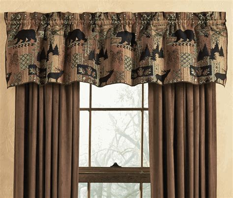 lodge decor curtains smoky mountain tapestry valance