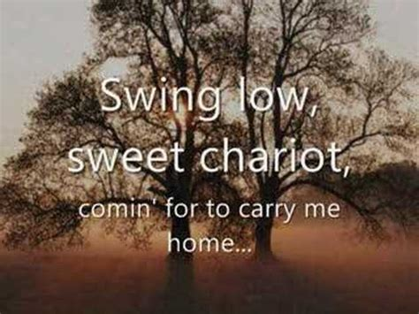 swing low sweet chariot lyrics johnny cash spirituals and their coded messages sarah s blog