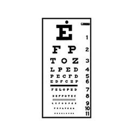 Snellen Chart For Visual Acuity 4 Meter eye chart vision test snellen chart visual acuity
