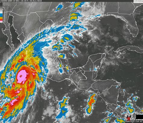 imagenes satelital huracan patricia hurac 225 n patricia m 225 s cerca de tocar tierra en m 233 xico