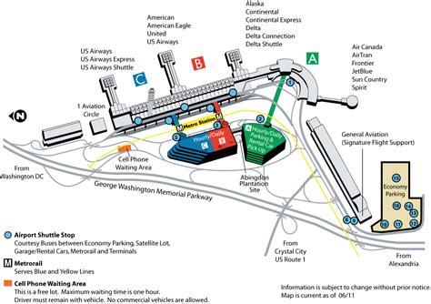 washington dc terminal map map washington national airport
